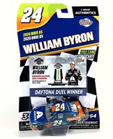 William Byron #24 NASCAR Authentics Daytona Duel Win 2020 Wave 5 1/64 Die-Cast
