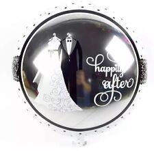 Wedding Helium Foil Balloon (45cm/18'')- Silver Wedding/Engagement Foil Balloons