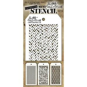 Tim Holtz Mini Layering Stencil ~ SET 13 ~ THMST013 ~ Stampers Anonymous