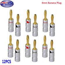 12pcs 24K Gold Plated Speaker Cable Wire Connector 4mm Banana Plug Nakamichi AU