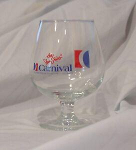 Carnival Cruises Brandy Snifter Cruise Line Glass Barware Souvenir
