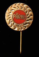 Pärnu City, The Sun, Vintage USSR Soviet Estonia Pin Badge