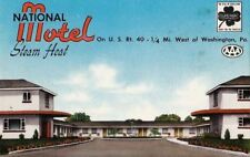 Postcard National Motel West Washington PA