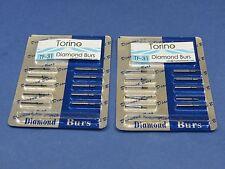 Dental Lab Diamond Burs Conical Trunk TF-31 FG Kit /2 Pack 20 Pcs TORINO Jewelry
