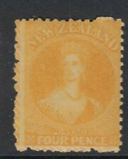 SG 139 New Zealand 1873. 4d orange yellow, no WMK, perf 12½. - unmounted mint