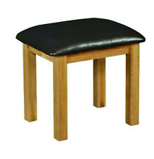 Solid Oak Dressing Stool and Mirror Set