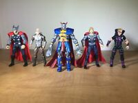 Lot of 5 - Marvel Universe - 3.75 Figures - Deaths Head - Thor - Odin - Hawkeye