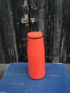 Vintage Retro Red Thermos brand Thermal Jug Hot Cold Picnic Bar Camper
