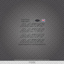 01122 Dawes Galaxy Bicycle Stickers - Decals - Transfers - Black