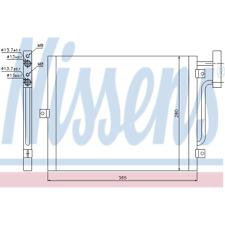 Condenseur à Air Conditionné - Nissens 94715
