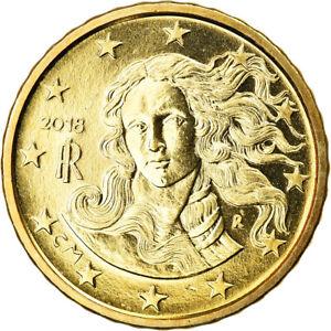 [#795817] Italie, 10 Euro Cent, 2018, SPL, Laiton, KM:New