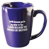 Funny Sister-In-Law Cobalt Blue Ceramic Coffee Mug- Dishwasher & Microwave Safe