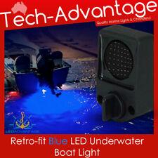12v 6 Watt Blue LED Underwater TRANSOM Squid Fishing BUNG DRAIN PLUG Light Kit