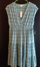 Womens New York and Company Sleeveless Dress Size Large Teal Blue New with Tags