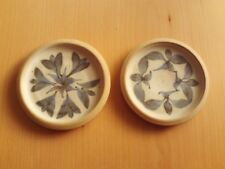 Vintage X2 Earthenware Studio Pottery Coasters/Pin Dish/Plates.