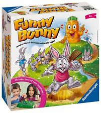 Ravensburger Funny Bunny Game for 2-4 Players Reach Succulent Carrot at Hill