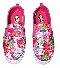 SGirl Shopkins Girls Pink Canvas Slip On Shoes