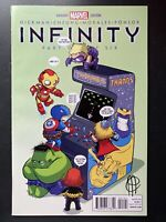 Marvel Comics Infinity #1 signed by Jim Cheung Skottie Young Variant Cover baby