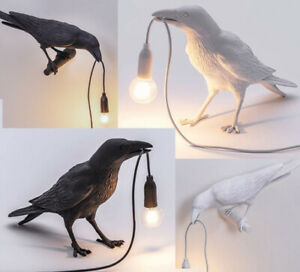Bird Table Lamp Wall Fix lamps Crow Raven Figure Light Home Decoration Lights