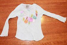 Beetlejuice 4t shirt GUC flowers boutique appliques light blue 100% cotton