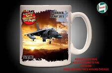 Personalised HARRIER JUMP JET RAF PLANE Mug Cup Dad Custom Gift - Add Name