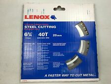 "Lenox 21878, 6-3/4"" Titanium Carbide-Tipped Steel Cutting Saw Blade NEW IN BOX"