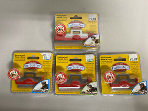 """Lot Of (4) Bamboo Furbuster replacement 2&4"""" blades & cover deshedding tool New"""
