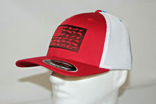 Columbia PFG Fish Lure Flag Mesh Fitted Flexfit Ballcap in Red L/XL 7 - 7 3/4