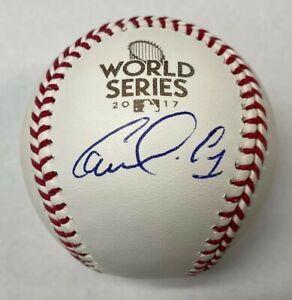 CARLOS CORREA SIGNED AUTO 2017 WORLD SERIES BASEBALL BALL BECKETT BAS #Q69450