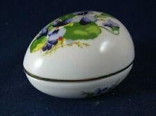 The First Danbury Mint Porcelian Easter Egg- Violets- C0807- 22kt Gold- Japan