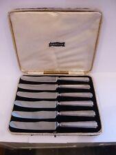 Antique Sterling Silver Butter Knife Boxed Set Sheffield Emile Viner 1933