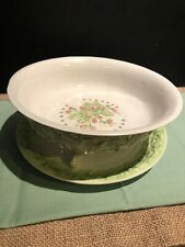 Ceramic Colander And Underplate From Italy