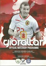 GIBRALTAR v REPUBLIC OF IRELAND & ESTONIA    MARCH 2019  Official Programme