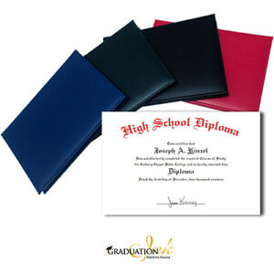 "6"" x 9"" Junior Home School Custom Diploma & Diploma Holder (5 Color Options)"