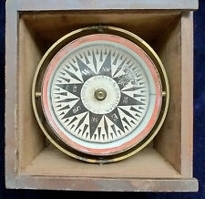 1884 ANTIQUE MARINE BOAT COMPASS BY DUREN & COSTIGAN WITH BILL OF SALE