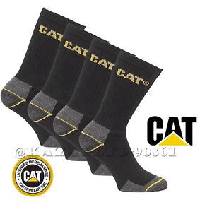 CAT Caterpillar Mens Heavy Duty Industrial Crew Work-wear Socks 6-11 & 11-14 lot