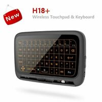2019 2.4Ghz Mini Backlight Wireless Keyboard H18+ USB Full Touchpad Air Mouse