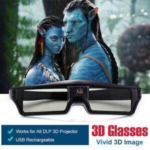 Rechargeable 3D Brille Aktive für All DLP 3D Beamer BenQ Acer Viewsonic Optoma