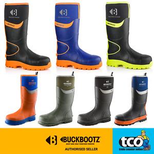 Buckbootz Buckler Safety Welly Boots Hi Viz WaterProof Wellies BBZ6000 BBZ8000