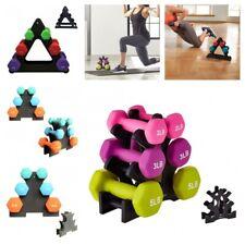 Portable Weight Dumbbells Rack Neoprene Coated Home Fitness Gym Exercise Kits