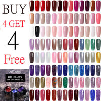 LEMOOC 5ml Soak off UV Gel Polish  Pink Glitter UV Gel Varnish 180 Colors