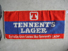 Vintage 1960s Tennent Lager Beer Bar Used Towel #2