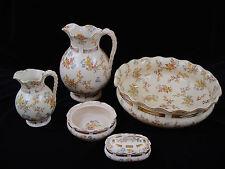 Wunderschönes Waschtisch Set SARREGUEMINES 1890-1900,Louis XV Utzschneider & Cie