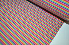 Bündchen Schlauchware gestreift  25cm x 68 cm REGENBOGEN RAINBOW UNICORN LILA