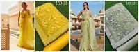 Embroidery Work Sari Designer Indian Party Wear Look Fancy Wedding Saree Sari MA