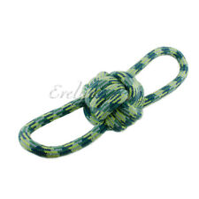 1-Piece Pet Toy Rope Ball Knot with Double Loops Tug Chew Deluxe - Colors Vary