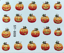 Nail Art Water Decals Halloween Pumpkin Jack-o-Lantern SY809