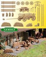 BNIB OO HO Gauge VOLLMER 43699 FARM ACCESSORIES KIT -CART, LADDERS,WOOD PILE ETC