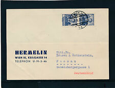 Geschäfts-Postkarte 2.2.1938 aus Wien, Hermelin Verlag  17/4/15