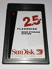 NOS SanDisk SDP-5A 2.5MB PCMCIA ATA Type II Flash Disk Memory Card Roland Camera